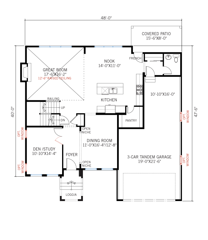 Base floorplan of Vail - Prairie - 2,916 sqft, 3 Bedroom, 2.5 Bathroom - Cardel Homes Denver