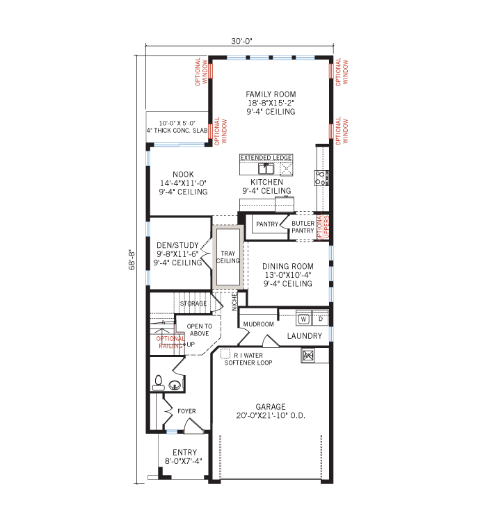 Base floorplan of Palmetto 2 - Tuscan - 2,800 - 2,855  sqft, 4 - 6 Bedroom, 2.5 - 4.5 Bathroom - Cardel Homes Tampa