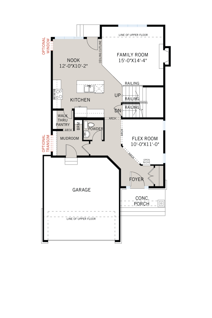 Base floorplan of Eastleigh - R9 Modern Prairie - 2,148 sqft, 3 Bedroom, 2.5 Bathroom - Cardel Homes Ottawa