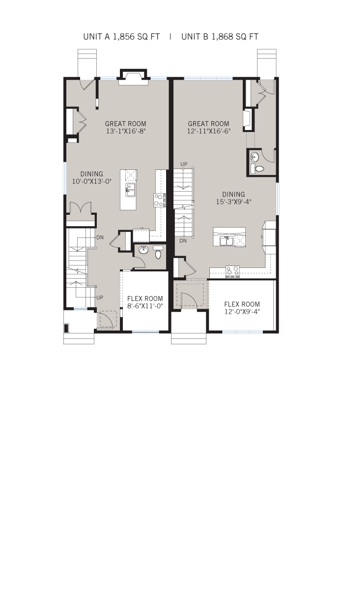 Base floorplan of Tresco - Tresco C - 1,856 sqft, 3 Bedroom, 2.5 Bathroom - Cardel Homes Calgary