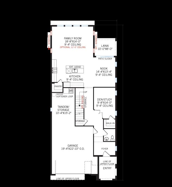 Base floorplan of Azalea - Tuscan - 2,732 - 2,772 sqft, 4 - 5 Bedroom, 2.5 - 3 Bathroom - Cardel Homes Tampa