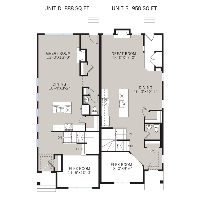 Base floorplan of Solstice D+B - Urban - 1,883 sqft, 3 Bedroom, 2.5 Bathroom - Cardel Homes Calgary