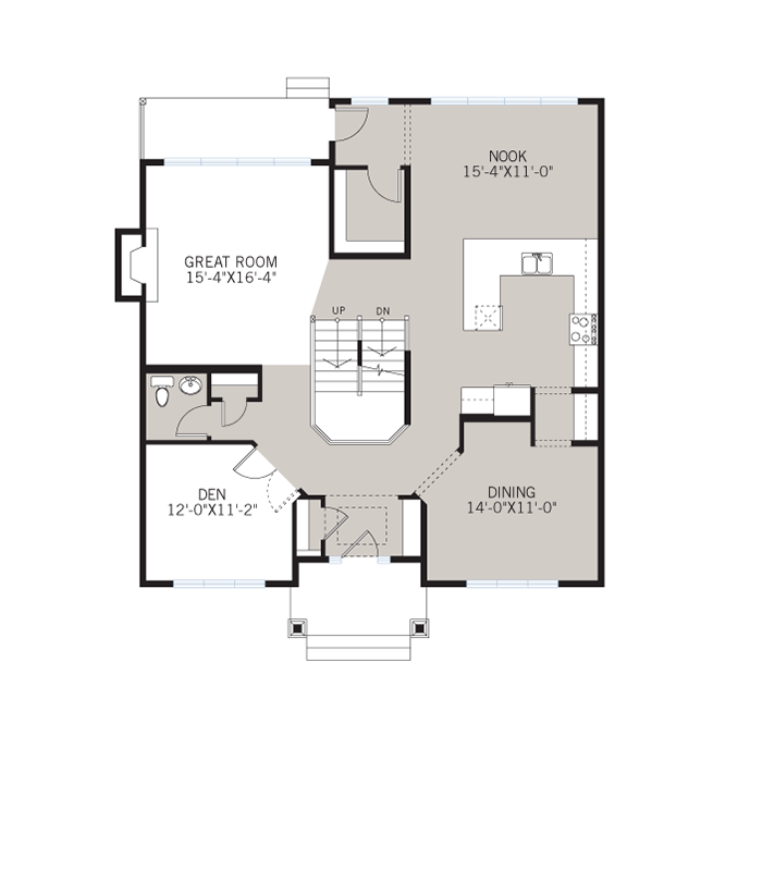 Base floorplan of Lex - Craftsman A - 2,827 sqft, 3 Bedroom, 2.5 Bathroom - Cardel Homes Calgary