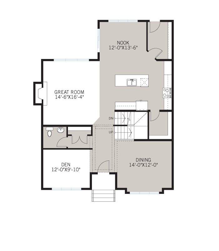 Base floorplan of Vincent - Urban B - 2,696 sqft, 3 Bedroom, 2.5 Bathroom - Cardel Homes Calgary