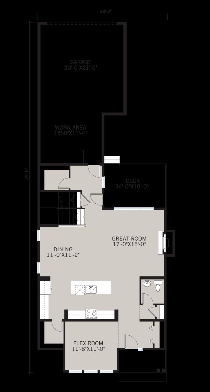Base floorplan of KENTON COURT-SP2016 - Shingle S1 - 2,456 sqft, 3 Bedroom, 2.5 Bathroom - Cardel Homes Calgary