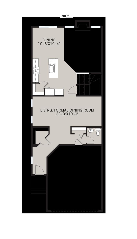 Base floorplan of Sabal - CB-Farmhouse C3 - 2,313 sqft, 4 Bedroom, 2.5 Bathroom - Cardel Homes Calgary