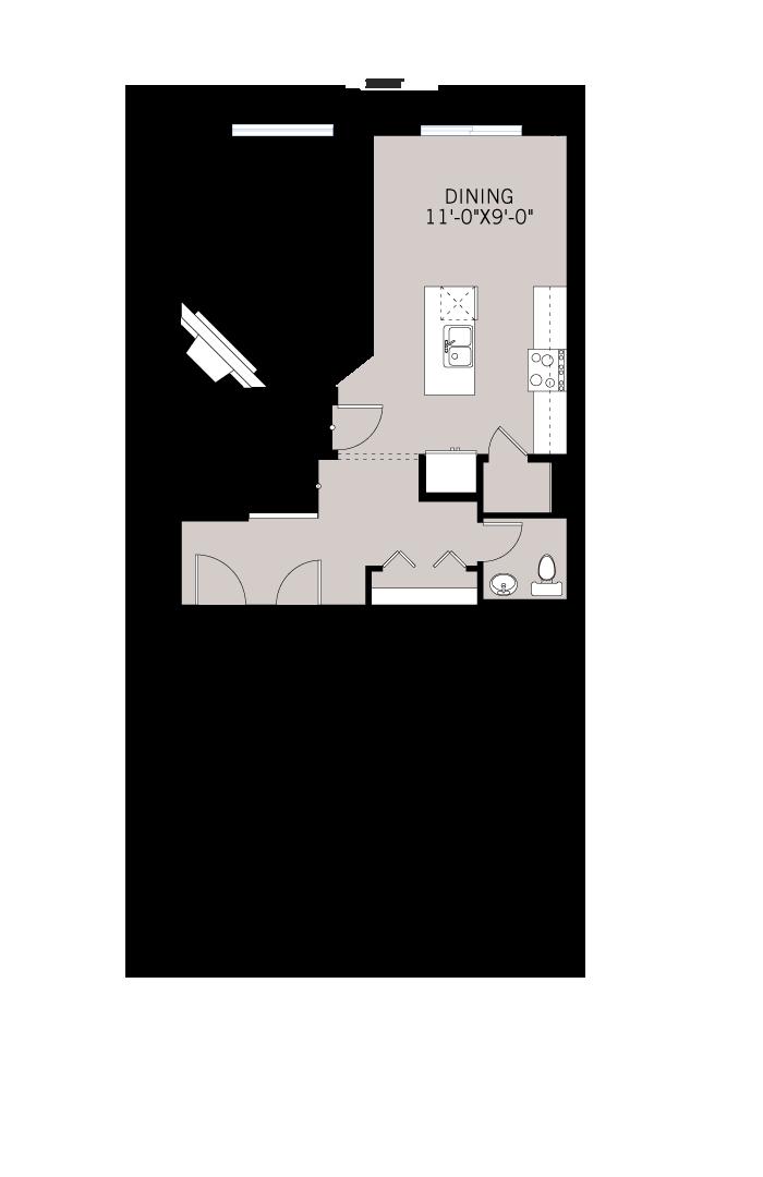Base floorplan of Stanton 1 - Urban Prairie A3 - 1,662 sqft, 3 Bedroom, 2.5 Bathroom - Cardel Homes Calgary