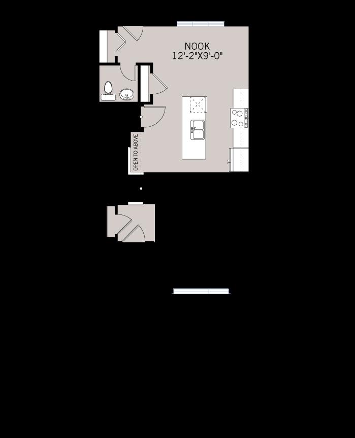 Base floorplan of WP-COBALT 2 - Modern Prairie F6 - 1,340 sqft, 3 Bedroom, 2.5 Bathroom - Cardel Homes Calgary