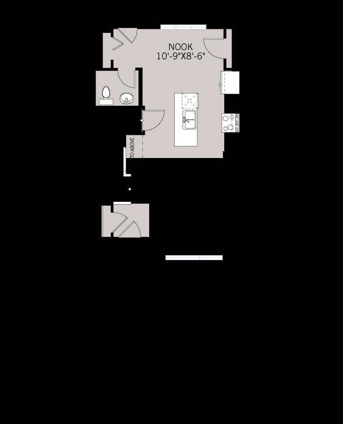 Base floorplan of WP-SOHO 2 - Modern Prairie F6 - 1,214 sqft, 3 Bedroom, 2.5 Bathroom - Cardel Homes Calgary