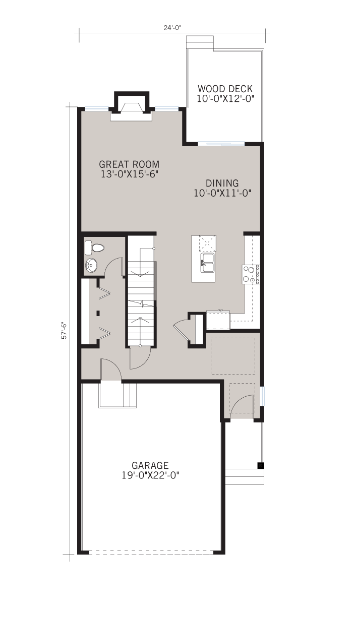 Base floorplan of SIMCOE-SP2016 - Prairie S3 - 2,682 sqft, 4 Bedroom, 3.5 Bathroom - Cardel Homes Calgary