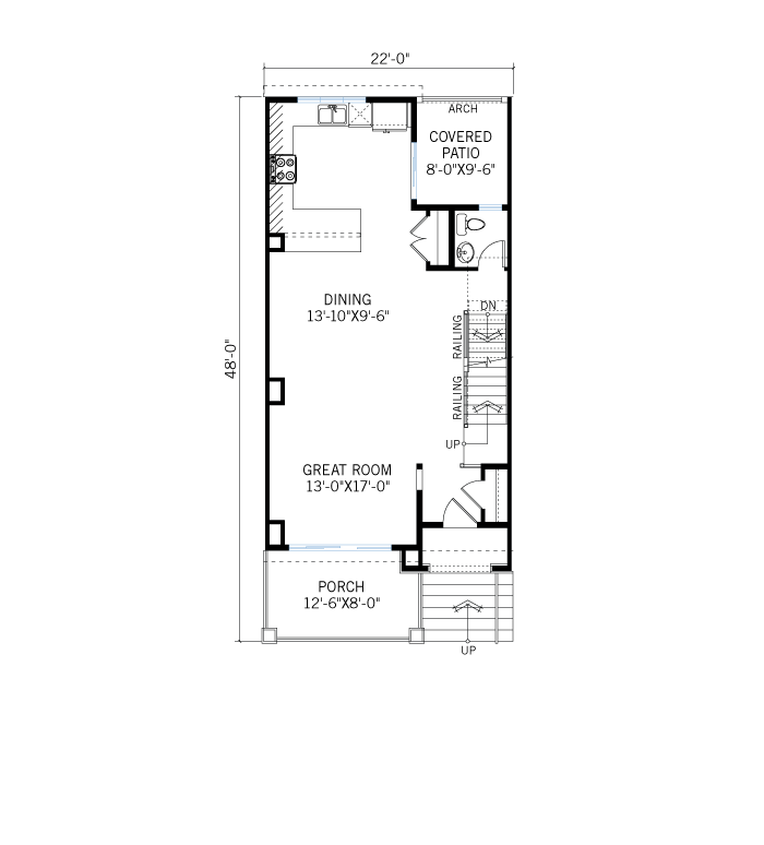 Base floorplan of 1458076625.94_Turin-C_Large - 1,688 sqft, 2 Bedroom, 2.5 Bathroom - Cardel Homes Denver