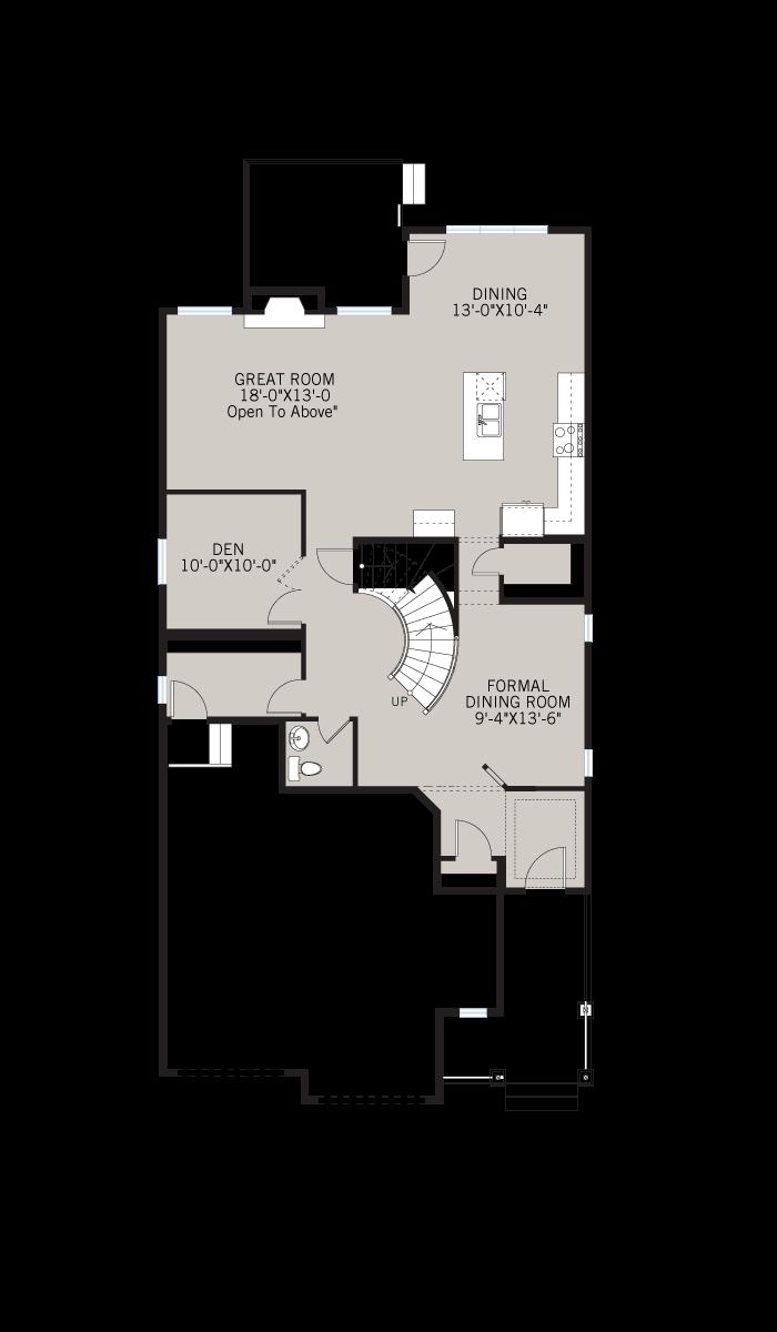 Base floorplan of SEQUOIA-SP2016 - Shingle S1 - 2,680 sqft, 3 - 4 Bedroom, 2.5 Bathroom - Cardel Homes Calgary
