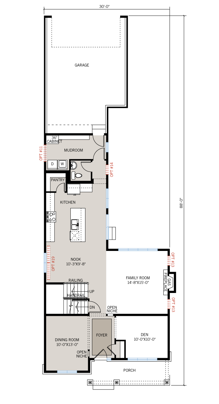 Base floorplan of Sheffield - Sheffield A3 - 2,543 sqft, 3 Bedroom, 2.5 Bathroom - Cardel Homes Ottawa