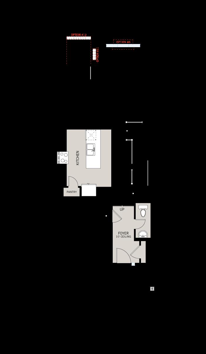 Base floorplan of Meadow - Verbena - Elevation A - 2,023 sqft, 3 Bedroom, 2.5 Bathroom - Cardel Homes Ottawa