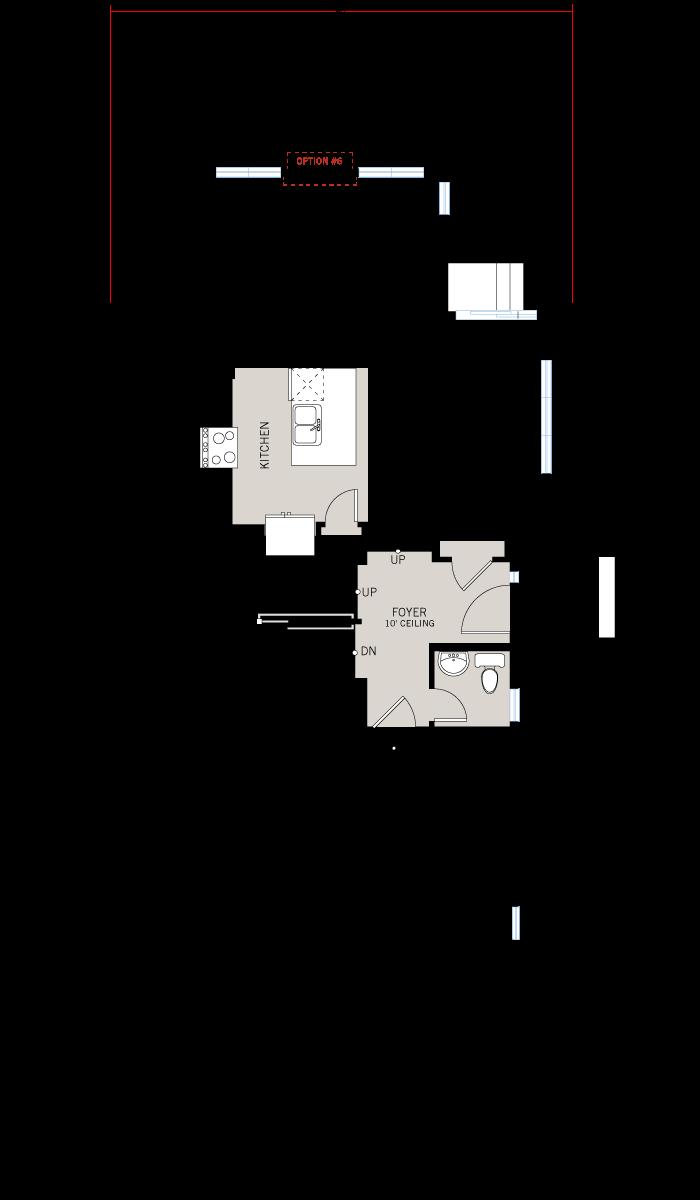 Base floorplan of Meadow - Yarro 2 - Elevation A - 2,048 sqft, 3 Bedroom, 2.5 Bathroom - Cardel Homes Ottawa