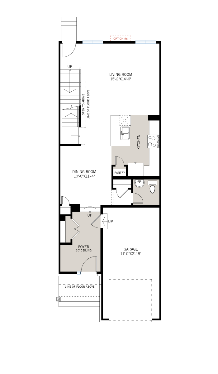 Base floorplan of Meadow - Aster - Elevation A - 2,144 sqft, 3 Bedroom, 2.5 Bathroom - Cardel Homes Ottawa