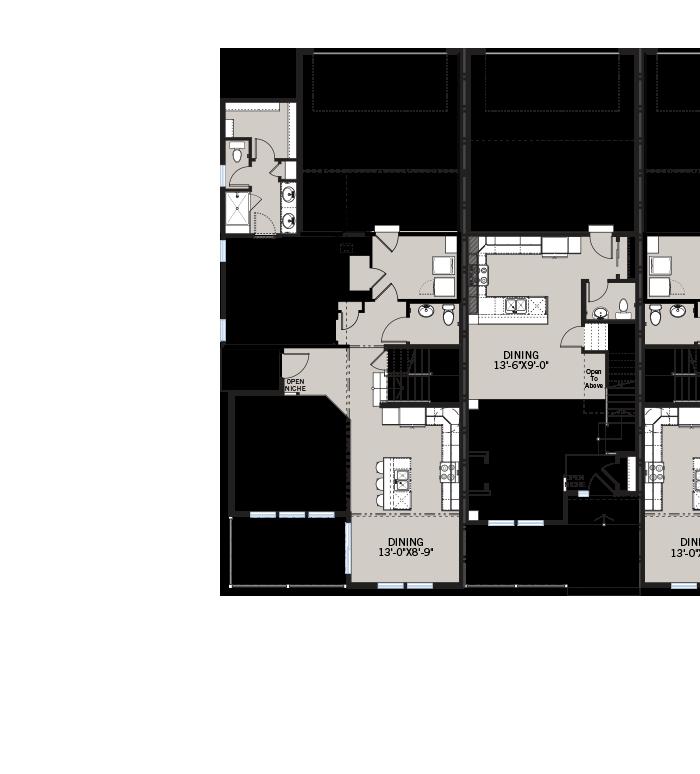 Base floorplan of Juniper - Elevation A - 1,727 sqft, 2 Bedroom, 2.5 Bathroom - Cardel Homes Denver