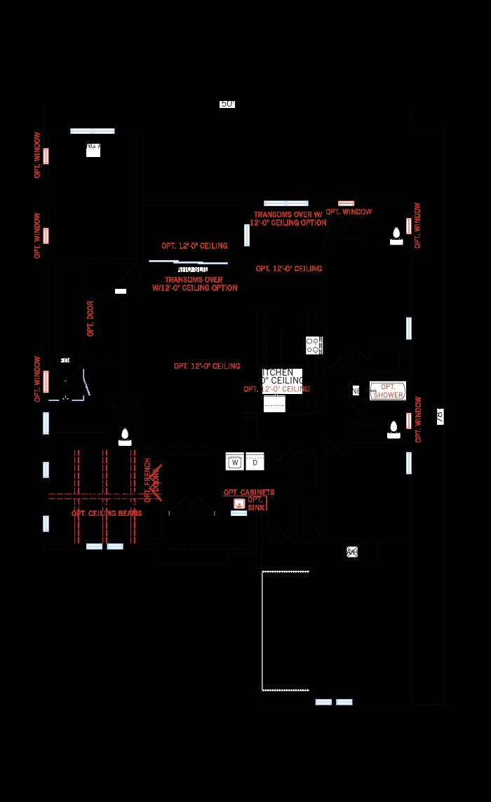 Base floorplan of Bellamore - Italian Villa - 2,312 sqft, 3 Bedroom, 2.5 - 3 Bathroom - Cardel Homes Tampa