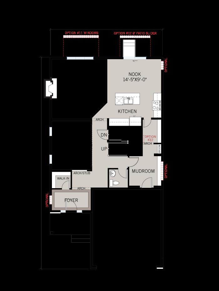Base floorplan of Laurier - A3 Urban - 2,615 sqft, 4 Bedroom, 2.5 Bathroom - Cardel Homes Ottawa