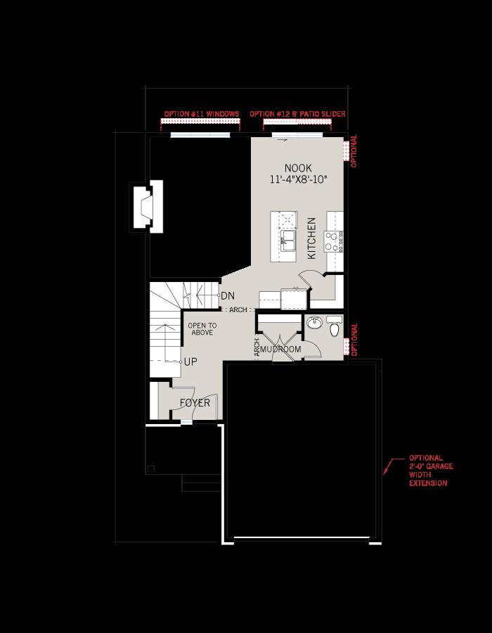 Base floorplan of BS-BILLINGS-A4 - 1,755 sqft, 3 - 4 Bedroom, 2.5 - 3.5 Bathroom - Cardel Homes Ottawa