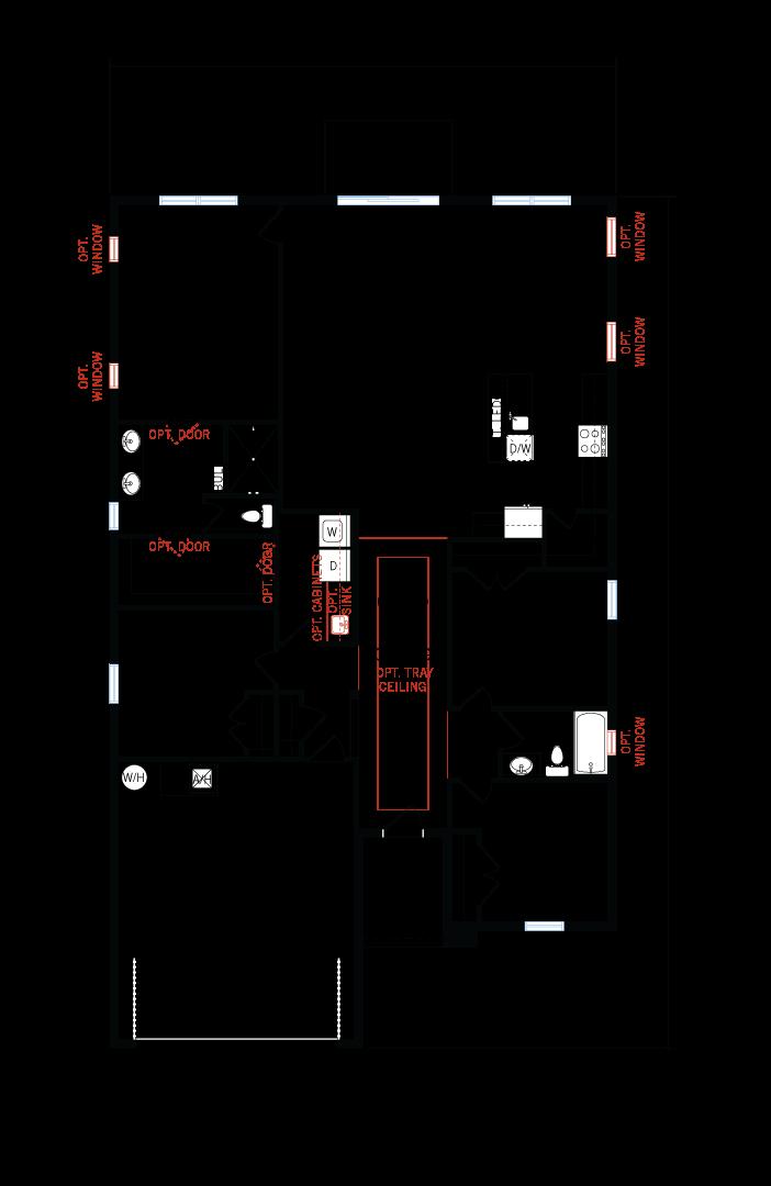 Base floorplan of Brighton - Provincial Chateau - 2,010 sqft, 3 - 4 Bedroom, 2 Bathroom - Cardel Homes Tampa