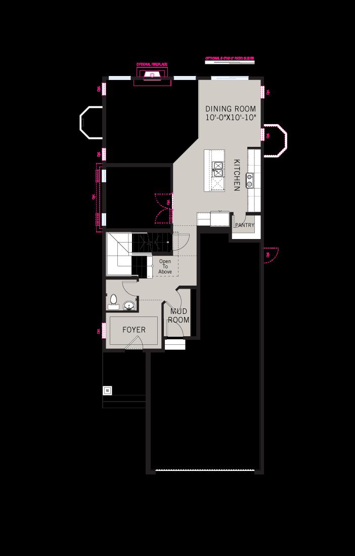 Base floorplan of JETT-elev - 2,039 sqft, 3 Bedroom, 2.5 Bathroom - Cardel Homes Denver