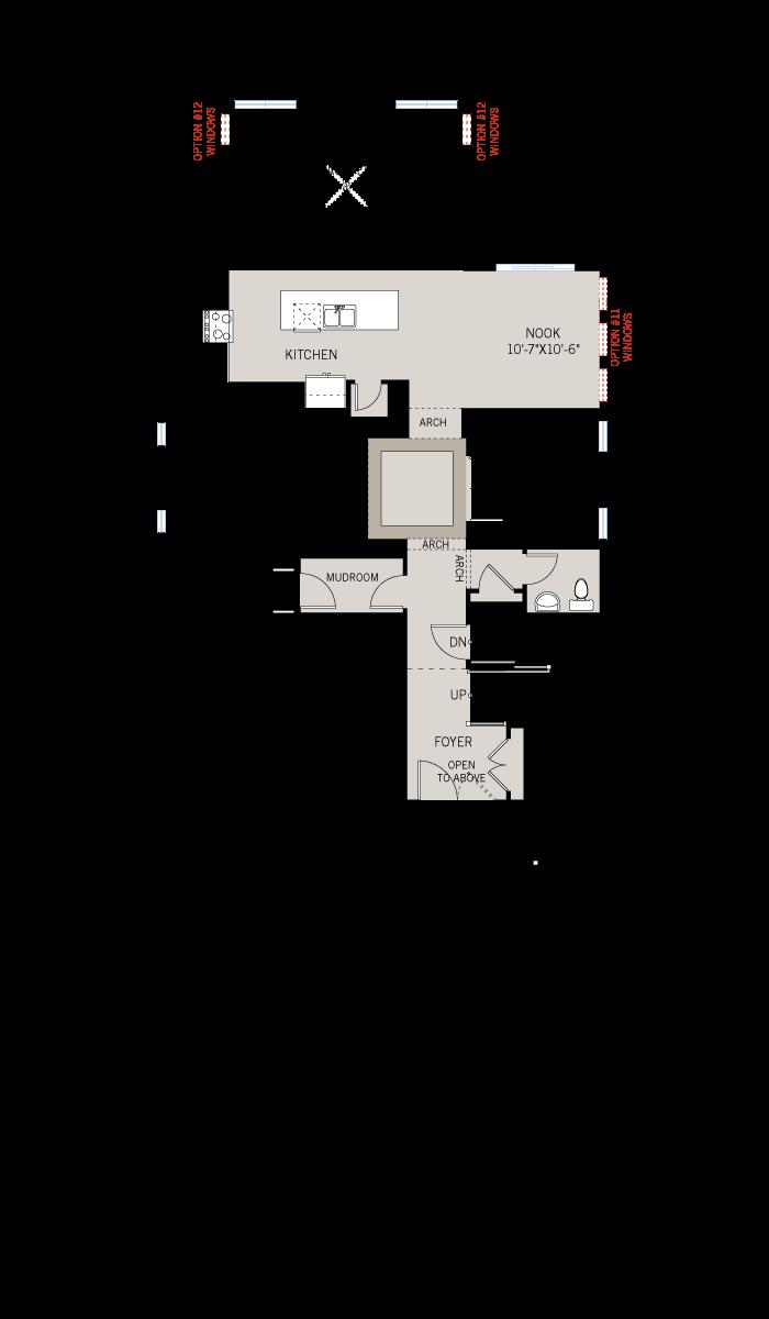 Base floorplan of Bristol BS - Canadiana A1 - 2,646 sqft, 4 Bedroom, 2.5 Bathroom - Cardel Homes Ottawa