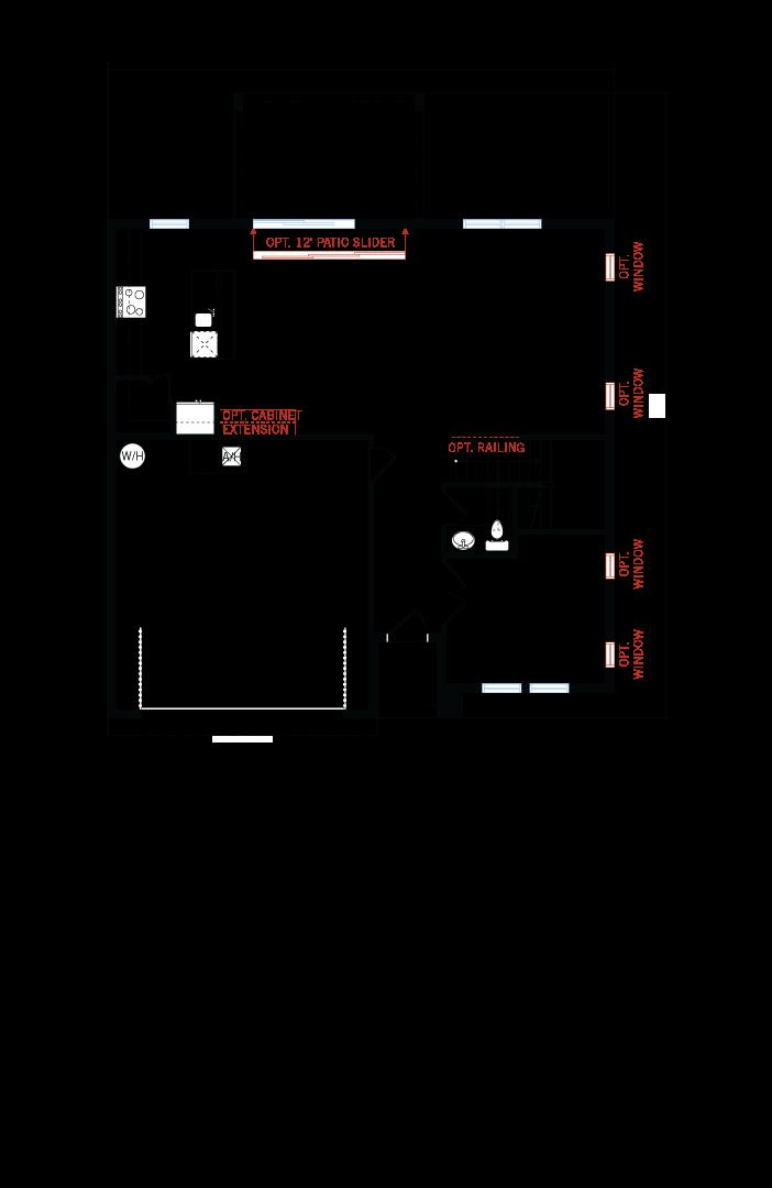 Base floorplan of Newhaven - Traditional Cottage - 2,550 sqft, 4 Bedroom, 2.5 Bathroom - Cardel Homes Tampa