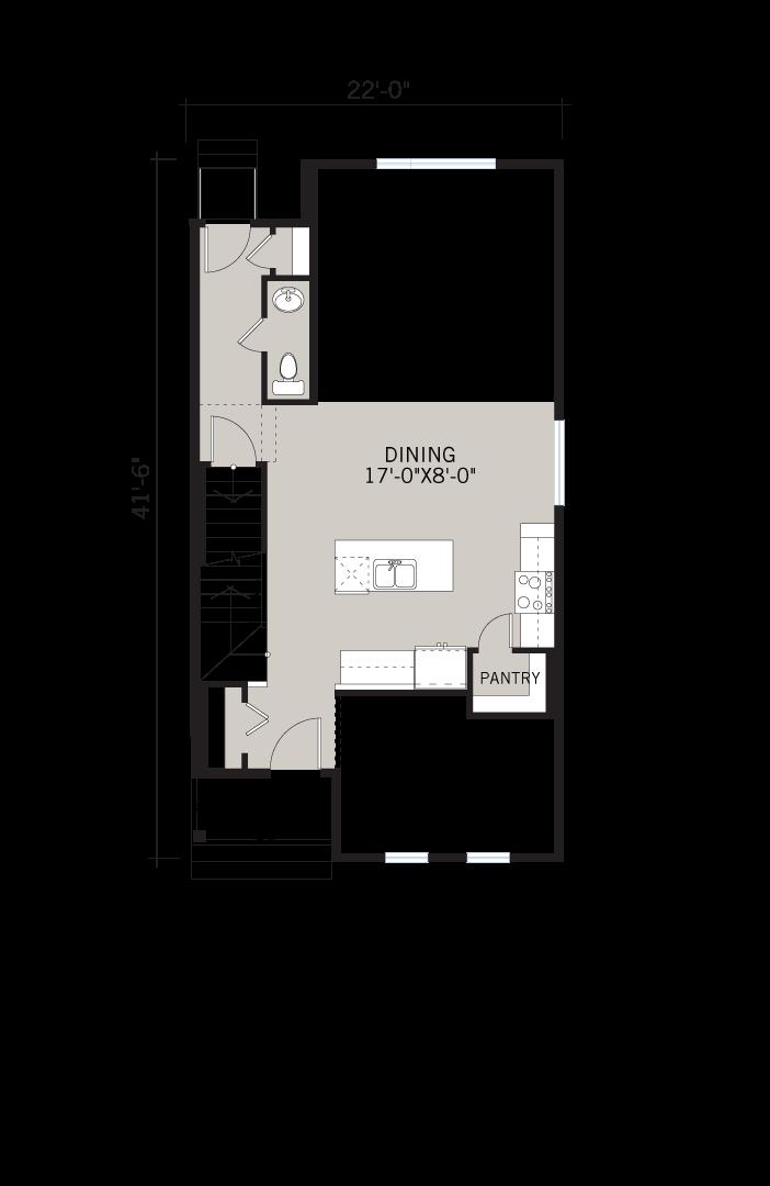 Base floorplan of Mensa 2 - CB-Prairie C2 - 1,704 sqft, 3 Bedroom, 2.5 Bathroom - Cardel Homes Calgary