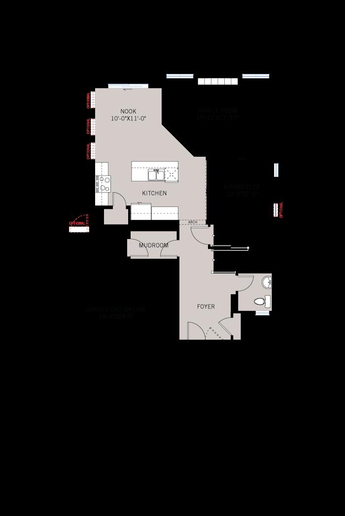 Base floorplan of Briscoe - A2 Traditional - 2,134 sqft, 3 - 4 Bedroom, 2.5 Bathroom - Cardel Homes Ottawa