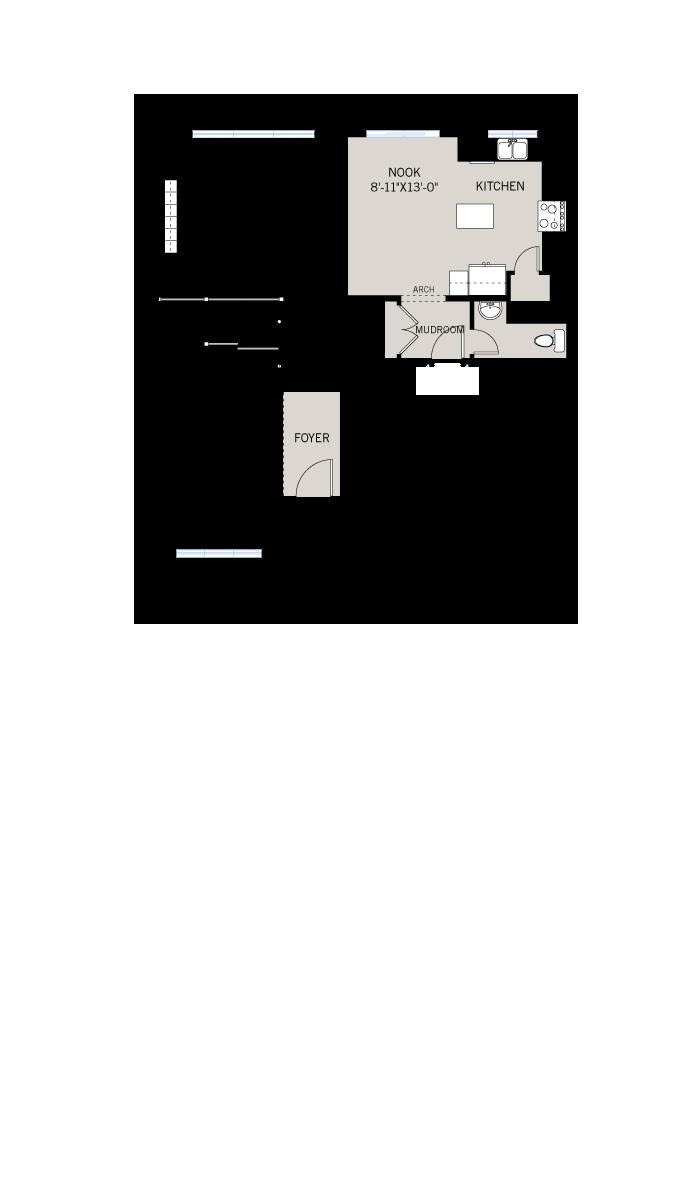 Base floorplan of Lincoln - A1 Canadiana - 1,944 sqft, 3 Bedroom, 2.5 Bathroom - Cardel Homes Ottawa