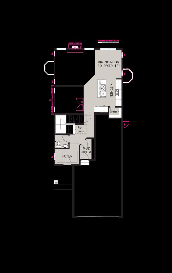 Base floorplan of JETT-Fusion-A - 2,039 sqft, 3 Bedroom, 2.5 Bathroom - Cardel Homes Denver