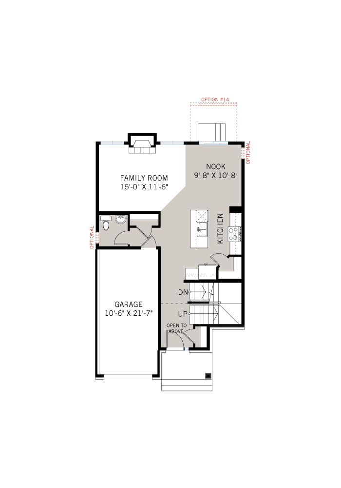 Base floorplan of Madigan - Traditional A2 - 1,957 sqft, 3 Bedroom, 2.5 Bathroom - Cardel Homes Ottawa