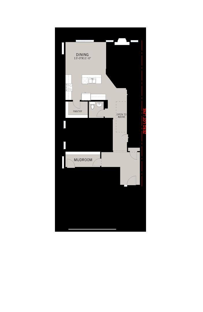 Base floorplan of Aster 1 - Urban Farmhouse A2 - 2,609 sqft, 4 Bedroom, 2.5 Bathroom - Cardel Homes Calgary