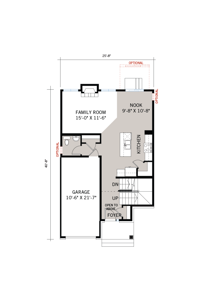 Base floorplan of EW-MADIGAN A2 TRADITIONAL - 1,957 sqft, 3 Bedroom, 2.5 Bathroom - Cardel Homes Ottawa