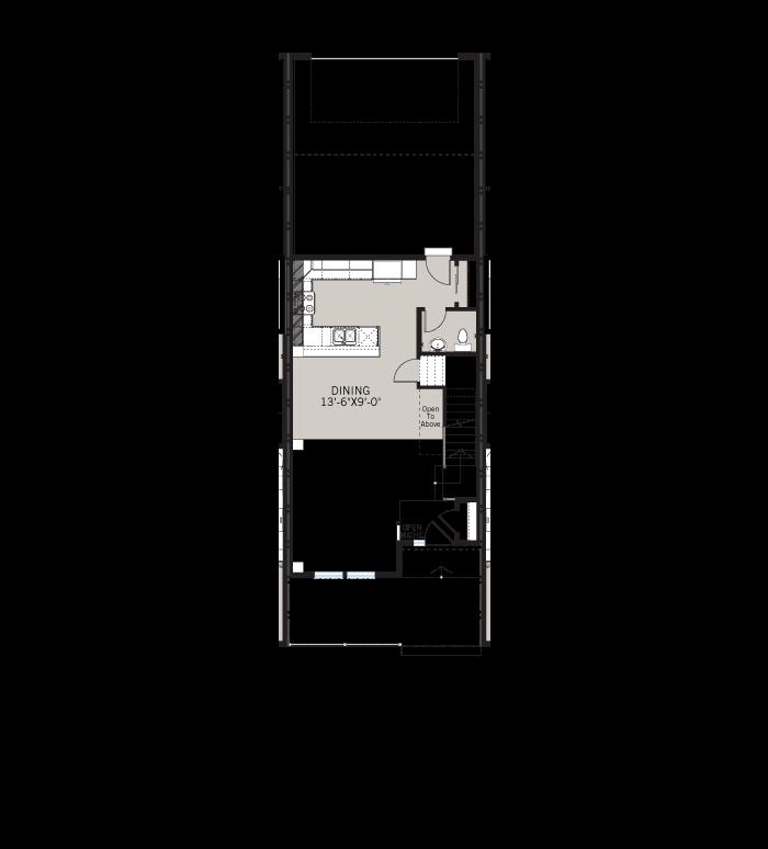Base floorplan of Sage LC - Elevation A - 1,573 sqft, 3 Bedroom, 2.5 Bathroom - Cardel Homes Denver