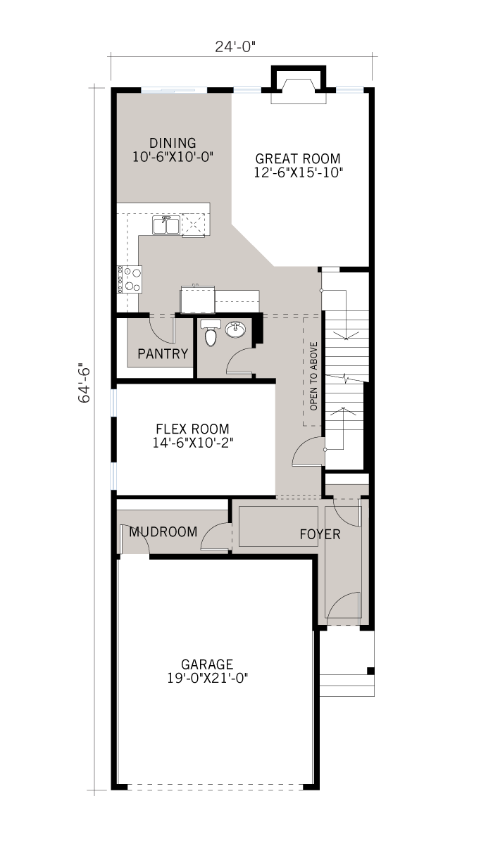 Base floorplan of Aster 2 - CB-Farmhouse C3 - 2,468 sqft, 4 Bedroom, 2.5 Bathroom - Cardel Homes Calgary
