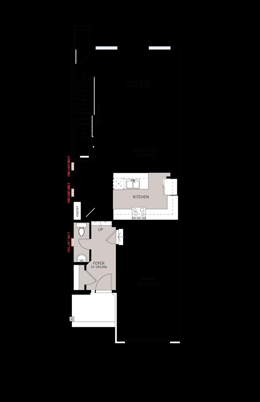 Base floorplan of Aster 2 MC - ELEVATION B - 2,144 sqft, 3 Bedroom, 2.5 Bathroom - Cardel Homes Ottawa