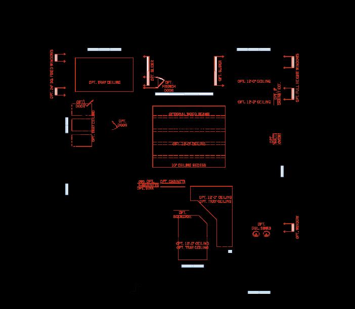 Base floorplan of HENLEY2 - WO - West Indies - 3,000 - 3,939 sqft, 4-5 Bedroom, 3-4 Bathroom - Cardel Homes Tampa