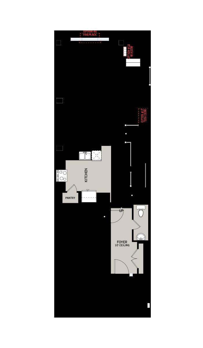 Base floorplan of edenwylde-towns-b - 2,064 sqft, 3 Bedroom, 2.5 Bathroom - Cardel Homes Ottawa