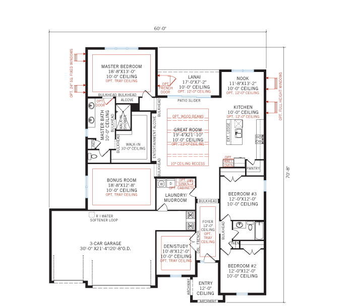 Base floorplan of BARRETT2 - WO - West Indies - 2,507 - 3,120 sqft, 3-5 Bedroom, 2-4 Bathroom - Cardel Homes Tampa