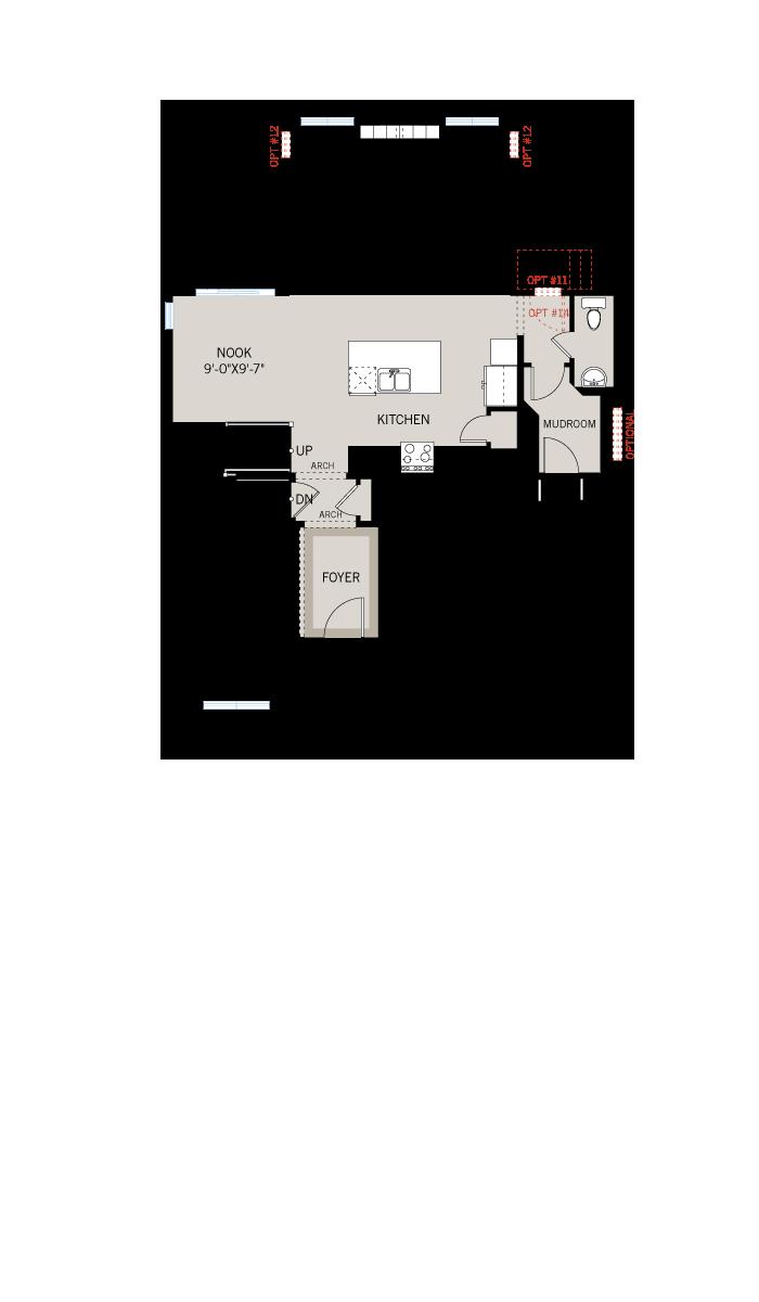 Base floorplan of  - 2,130 sqft, 3 - 4 Bedroom, 2.5 Bathroom - Cardel Homes Ottawa