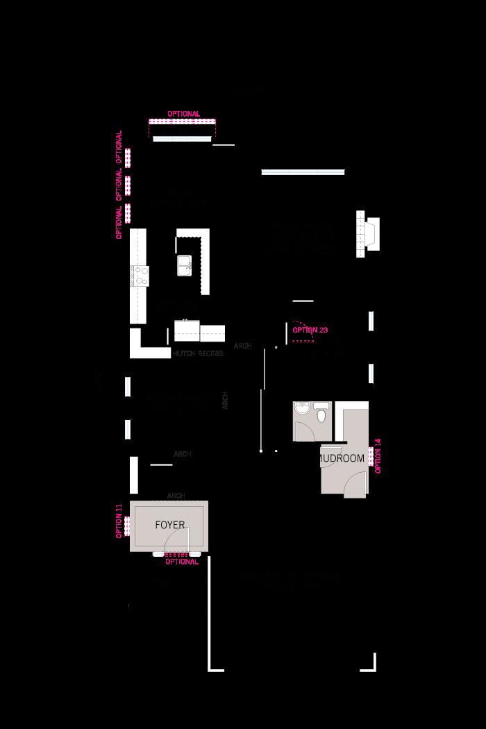 Base floorplan of Rayburn - Modern B3 - 2,888 sqft, 4-5 Bedroom, 2.5 Bathroom - Cardel Homes Ottawa