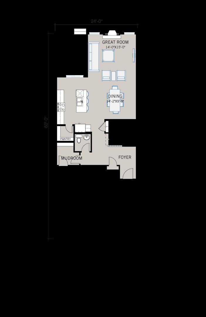 Base floorplan of Strand 2 - Shingle S1 - 1,914 sqft, 4 Bedroom, 3.5 Bathroom - Cardel Homes Calgary