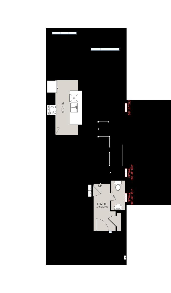 Base floorplan of Teak EW - Elevation B - 2,176 sqft, 3 Bedroom, 2.5 Bathroom - Cardel Homes Ottawa
