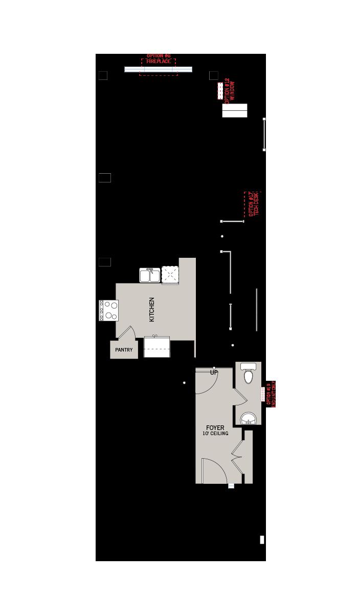Base floorplan of Forest - Balsa - Elevation A - 2,064 sqft, 3 Bedroom, 2.5 Bathroom - Cardel Homes Ottawa