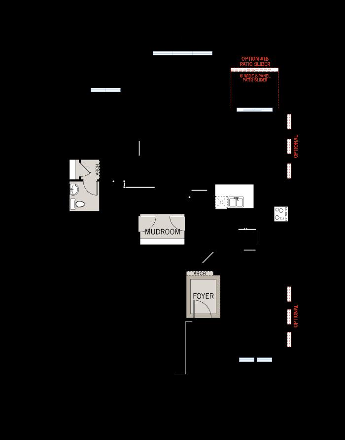 Base floorplan of Aberdeen - Traditional A2 - 2,847 sqft, 4 Bedroom, 2.5 Bathroom - Cardel Homes Ottawa