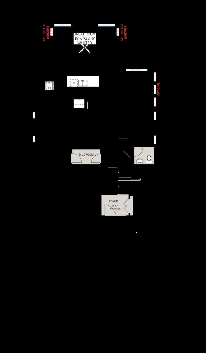 Base floorplan of Bristol CS - Traditional A2 - 2,646 sqft, 4 Bedroom, 2.5 Bathroom - Cardel Homes Ottawa