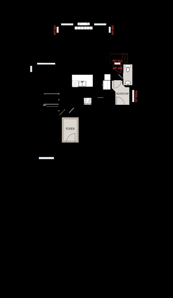 Base floorplan of Cornell CS - Traditional A2 - 2,130 sqft, 3 - 4 Bedroom, 2.5 Bathroom - Cardel Homes Ottawa