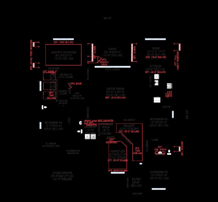 Base floorplan of Henley_Traditional_700x460 - 3,000 - 3,939 sqft, 4-5 Bedroom, 3-4 Bathroom - Cardel Homes Tampa